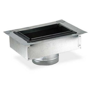 Gray Metal South 10 in. Register Box SHMFIBR810PUP