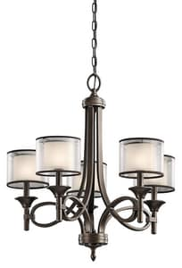 Kichler Lighting Lacey™ 25-3/4 in. 60W 5-Light Candelabra Chandelier KK42381
