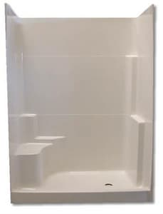 Spurlin Industries 60 x 35 in. Fiberglass Shower with Left Hand Seat SNFT603WWH