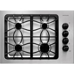 Frigidaire 30 in. 4-Burners Cast Iron Grate Gas Cooktop in Stainless Steel FFFGC3025LS