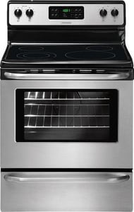 Frigidaire 5.3 CF 30 in. Self Cleaning Free Standing Smoothtop Electric Range in Stainless Steel FFFEF3048LS