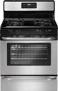 Frigidaire 5 CF 30 in. Self Cleaning Free Standing Gas Range FFFGF3053LS