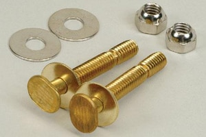 PROFLO 5/16 in. Brass Snap Closet Bolt Stainless Steel Pair PF90174