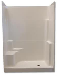 Spurlin Industries 60 x 35 in. Fiberglass Shower in White SNF603WLWH