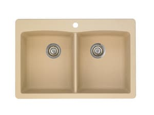 Blanco Usa Sinks : Blanco America Diamond? Equal Double Bowl Silgranit II Sink Biscotti ...