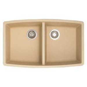 Blanco america performa 33 x 20 in equal double basin for Blancoamerica com kitchen sinks