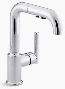 Kohler Purist® 1.8 gpm Single Lever Handle Section Pull-Out Kitchen Faucet K7506