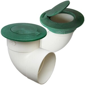 Fernco Pop-Up Emitter with 4 in. Sewer and Drain Elbow in Green FFSD344EL
