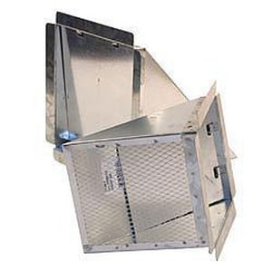 D & L Airflow Solutions 30 ga Eyebrow Stuc Screen Damper SHMEBSSD30