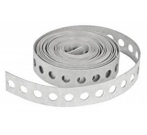 D & L Airflow Solutions 1.5 in. x 80 ft. 26 Gauge Aircold Hanger Strap Holes SHMHSH26J80A