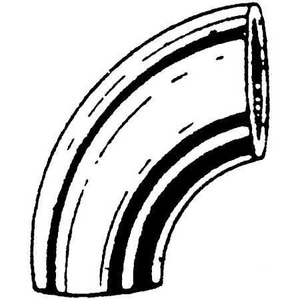 Felker Brothers Schedule 10 304L Stainless Steel Plain End Long Radius 90 Degree Elbow DS714LW9