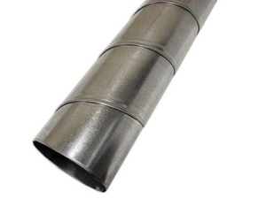 D & L Airflow Solutions 10 ft. 24 ga No Crimp Spiral Pipe SHMSPNC2410