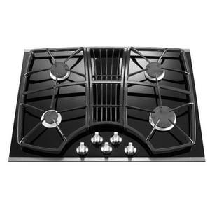Kitchenaid Architect® 30 in. Downdraft Glass Gas Cooktop KKGCD807X