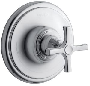 Kallista Bellis® Thermostatic Valve Trim with Single Cross Handle in Polished Chrome KP24622CRCP