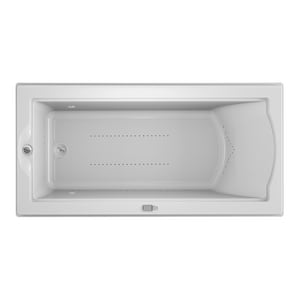 Jacuzzi Fuzion® 70-3/4 x 35-1/2 in. Acrylic Rectangle Drop-In or Undermount Air Bathtub with Left Drain and J5 LCD Control JFUZ7236ALR5CX