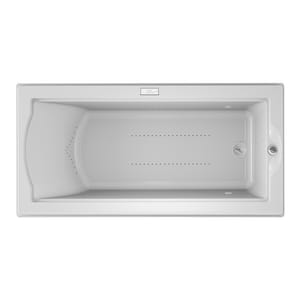 Jacuzzi Fuzion® 70-3/4 x 35-1/2 in. Acrylic Rectangle Drop-In or Undermount Air Bathtub with Right Drain and J4 Luxury Control JFUZ7236ARL4CX