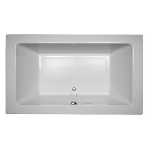 Jacuzzi Sia® 72 x 42 in. Acrylic Rectangle Drop-In or Undermount Air Bathtub with Center Drain and J5 LCD Control JSIA7242ACR5CX