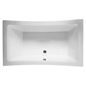 Jacuzzi Allusion® 72 x 36 in. Acrylic Rectangle Drop-In Air Bathtub with Center Drain and J4 Luxury Control JALL7236ACR4CX