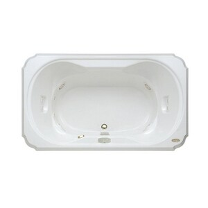 Jacuzzi Bellavista™ 72 x 42 in. 10-Jet Acrylic Rectangle Drop-In Whirlpool Bathtub with Center Drain and J4 Luxury Control JBEL7242WCL4CW