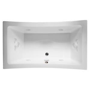 Jacuzzi Allusion® 72 x 42 in. 10-Jet Acrylic Rectangle Drop-In Whirlpool Bathtub with Center Drain and J5 LCD Control JALL7242WCR5IW