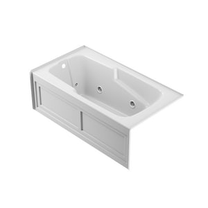 Jacuzzi Bellavista™ 59-3/4 x 59-3/4 in. Acrylic Corner Drop-In Air Bathtub with Center Drain and J4 Luxury Control JBEL6060ACR4CX