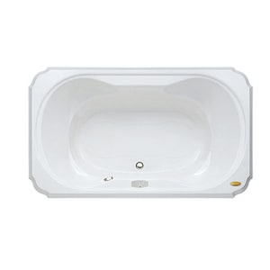 Jacuzzi Bellavista™ 59-3/4 x 41-3/4 in. Acrylic Rectangle Drop-In Air Bathtub with Center Drain and J4 Luxury Control JBEL6042ACR4CX