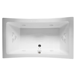 Jacuzzi Allusion® 72 x 42 in. 10-Jet Acrylic Rectangle Drop-In Spa Combination Bathtub with Center Drain and J5 LCD Control JALL7242CCR5CW