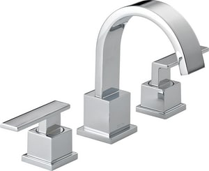 delta faucet. Delta Faucet Vero  Widespread Lavatory with Double Lever Handle D3553LF