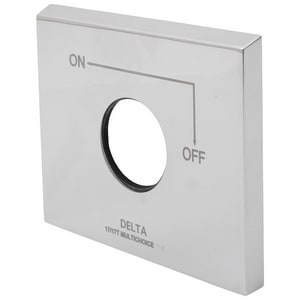 Delta Faucet Escutcheon and Gasket in Polished Chrome DRP62958