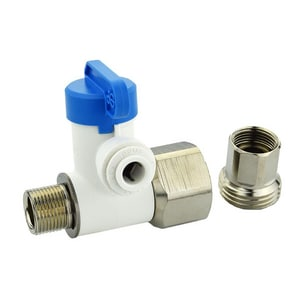 John Guest USA Angle Stop Adaptor Valve in Polished Chrome JASVPP5LF