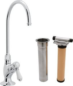 Rohl Perrin & Rowe® Country Kitchen Kitchen Column Spout Filter Faucet with Single Lever Handle and 4-11/16 in. Spout Reach RAKIT1635LP2