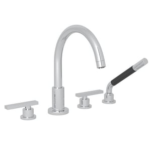 Rohl Lombardia 4 gpm Triple Lever Handle Tub Filler RA2214LM