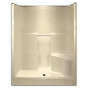 Aquarius Industries Luxury 60 x 36 in. Shower with Right Hand Seat in Biscuit AG6077SH1SRBS