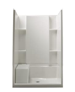Sterling Accord® 48 x 36 in. Shower Back Wall with Backers in White S722841060