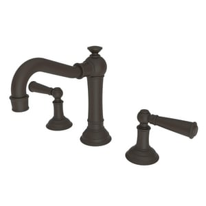 Newport Brass Jacobean 3-Hole 1.2 gpm Widespread Lavatory Faucet with Double Lever Handle N2470