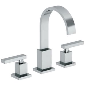 Newport Brass Secant 1.2 gpm 3-Hole Widespread Lavatory Faucet with Double Lever Handle N2040