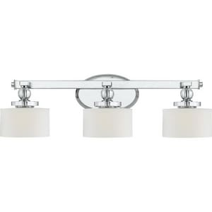 Quoizel Downtown 50 W G9 3-Light Bath Light Frosted QDW8603