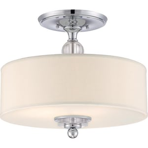 Quoizel Downtown 19 in. 60 W 3-Light Medium Semi-Flush Mount Ceiling Fixture QDW1717C