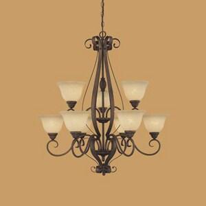 Millennium Lighting Auburn 100 W 9-Light Medium Chandelier in Rubbed Bronze M1259RBZ