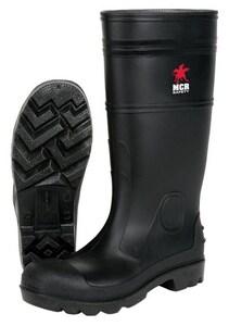 River City PVC Plain Toe Rubber Boot in Black RPBP120