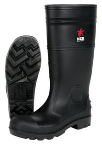 River City PVC Plain Toe Rubber Boot in Black RPBP120
