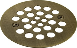 Monogram Brass® 4-1/4 x 2-5/8 in. Brass Snap-In Shower Strainer MB139446