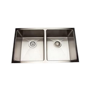 Mirabelle® 30-7/8 x 17-7/8 in. Double Bowl Undermount Sink No Hole MIRUC3118E