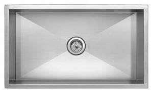 Mirabelle 33 x 21 in. Single Bowl Under-Mount Stainless Steel Sink MIRUC3321Z