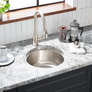 Mirabelle® Calverton 16 in. Round Undermount Stainless Steel Sink No Hole MIRUC16R