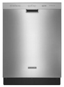 Kitchenaid Architect® 23-7/8 in. 52dB 4-Cycle 3-Option 2.5 Console Dishwasher KKUDC10IX