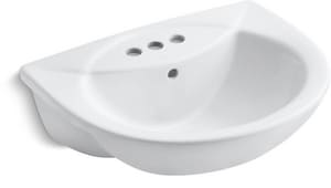 Kohler Odeon™ 22 x 17-7/8 in. Drop-in Bathroom Sink with 4 in. Centerset Faucet Holes K11160-4