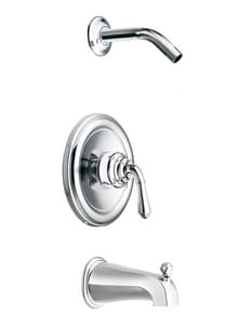 Moen Monticello® 2-Hole Tub and Shower Faucet with Single Lever Handle MT2449NH