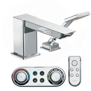 Moen 90 Degree™ Roman Tub Trim Only with Single-Handle and Hand Shower MTS9041