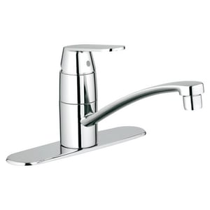 Grohe Eurosmart® 2.2 gpm Single Lever Handle Deckmount Kitchen Sink Faucet Swivel Spout 3/8 in. Compression Connection G31135
